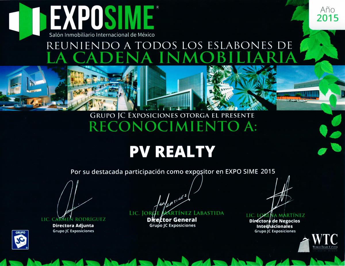 exposime  PV Realty, Trabajando para sus distinguidos clientes.  PV Realty  Working for its distinguished clients. exposime